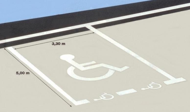 marquage des places de stationnement. Black Bedroom Furniture Sets. Home Design Ideas